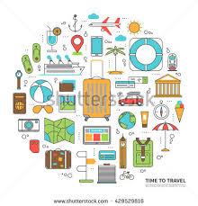 travel tourism planning vacation adventure journey stock vector