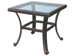 Patio Table Glass Top Exterior Old Style Small Square Glass Top Patio End Table Ideas