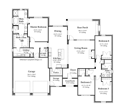 country floor plans house plan 2370 square country home style design