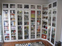 Glass Bookcases With Doors White Bookcase With Glass Door Handballtunisie Org
