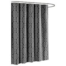 Charcoal Shower Curtain Creative Home Ideas Adisson Printed Cotton Blend 72 In W X 72 In