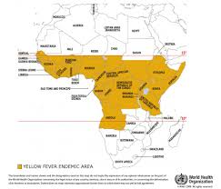 African Countries Map Who Yellow Fever Maps And Graphics
