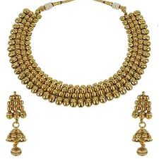 stone necklace sets images Much more women ethnic fashion gold tone pearl stone jpg