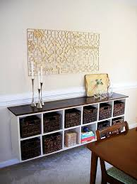 floating cubby buffet hacked from an ikea lookalike love this