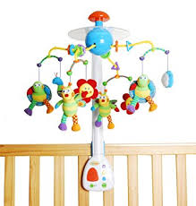 amazon com jollybaby interactive crib mobile with lights music