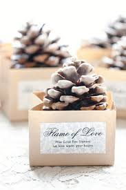 fall wedding favors 10 diy fall wedding favors pinecone starters pinecone and