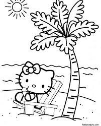 kitty elf coloring pages free birthday