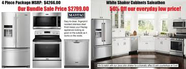 Kitchen Cabinets Sales by White U0026 Java Shaker Kitchen Cabinets U0026 Maytag Sale Kitchen
