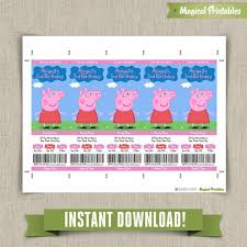 pig birthday ticket invitations instant download edit print