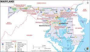 map of maryland with cities maryland map map of maryland md