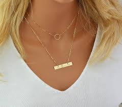Engraved Name Necklace Customized Name Necklace Bar Necklace Pesonalized Engraved
