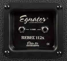 Marshall 1x12 Extension Cabinet Egnater Rebel 112x 1x12