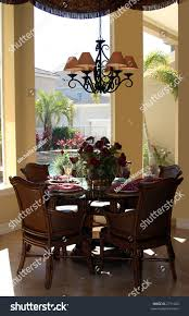 stylish casual dining table place settings stock photo 2711502