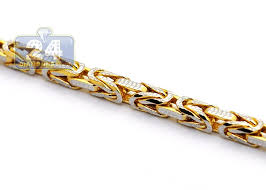 mens byzantine necklace gold images 14k yellow gold byzantine diamond cut link mens chain 3 5 mm jpg