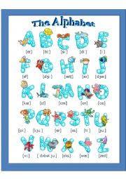 english worksheets the english alphabet pronunciation