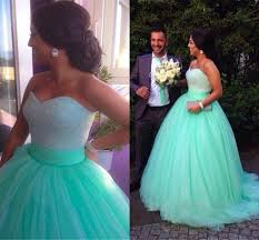 Cheap Brides Dresses 2015 Mint Green Wedding Dresses Ball Gown Soft Tulle Sweetheart
