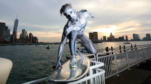 city fox halloween epic silver surfer halloween costume nyc youtube