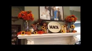 Decorate Fireplace by How To Decorate Fireplace Mantle For 20 Fall Decor Youtube