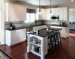 granite countertop kitchen designs white cabinets refrigerator