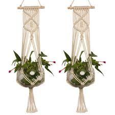 hanging planter basket macrame plant hanger hanging planter basket jute rope braided craft