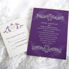 purple wedding invitation kits vintage purple damask custom wedding invitation cards ewi047 as low