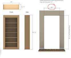 hinged bookcase secure u0026 secret buy today