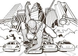 spiderman in action coloring pages coloringstar