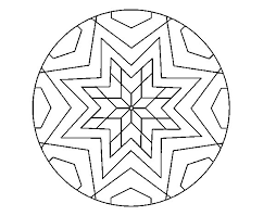 symmetry coloring pages mandala star mosaic coloring page coloringcrew com