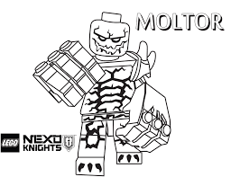 moltor coloring page printable sheet lego nexo knights