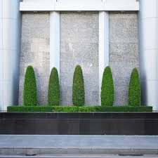 Topiaries Plants - artificial boxwood in the form of hedges topiaries plants and