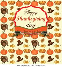 colorful background thanksgiving symbols vector illustration stock