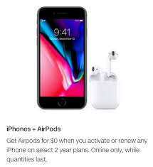 Telus Black Friday Iphone 6 6 Plus Various Telus Offers Free Airpods With Any Iphone Activation Or Renewal