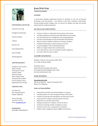 accountant resume format pisenegal photo 200458 resume of accountant in