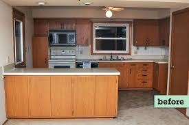 staining kitchen cabinets darker before and after 6 before and after kitchen cabinets this house