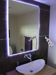 Bathroom Lighting Mirror - led bathroom light and fan also bathroom led accent lighting the
