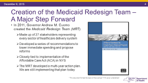 agenda the medicaid redesign team the 1115 waiver amendment ppt