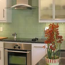 interior design green subway tile backsplash