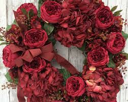 Red Door Home Decor Red Door Wreath Etsy