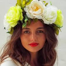 white flower headband best flower headband products on wanelo