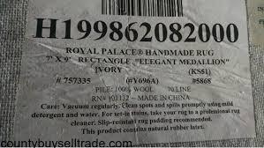 Royal Palace Rug Royal Palace Hand Made Qvc Wool Rug 7 U0027x9 U0027 In Prairieville