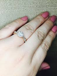 Kay Jewelers Wedding Rings For Her by Kay Diamond Engagement Ring 1 2 Carat Tw 10k Rose Gold
