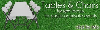 tables and chair rentals lions club charles city iowa
