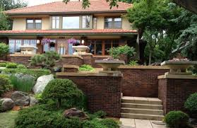 frank lloyd wright inspired home with lush landscaping frank lloyd wright landscape design google search barns and