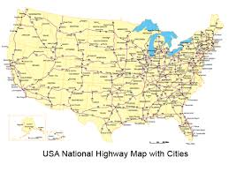 map usa states with cities usa map national highway system united states the with