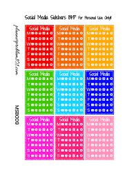 multicolor social media trackers u0026 sidebars free printable