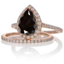 black engagement ring set best 25 black rings ideas on black