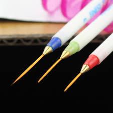 3 pcs nail art design tool set nail polish painting art pens