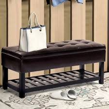 storage bench outdoor shoe patio entryway ebay