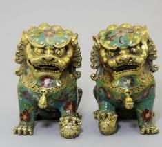 asian lion statues asian antique lion statue collection 1 pair of handwork