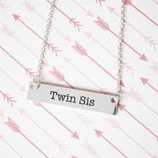 twin sister gold bar necklace sister gifts u2013 pipercleo com